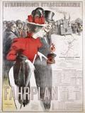 Strassburger Strassenbahnen Fahrplan Poster