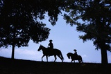 Father and Son Riding Horses
