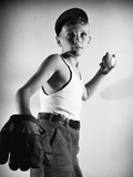Boy with Baseball and Glove