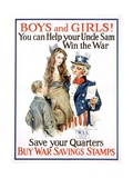 Boys and Girls! War Savings Stamps Poster