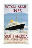 Royal Mail Lines to South America Poster