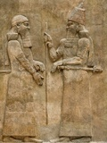 Assyrian Low-Relief of Sargon II and Dignitary