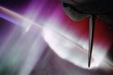 Aurora Australis and Endeavor Shuttle Tail