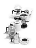 1970s Variety of Coffee Pots Single Coffee Cup