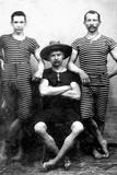 Three Men are Ready to Swim  Ca 1885