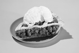 1950s Slice of Cherry Pie Alamode Dessert