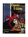 Liqueur Du Convent De Ste. Barbe Poster Giclée par L. Conchon