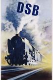 Dsb Danish State Railways Poster