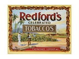 Advertisement Label for Redford's Celebrated Tobaccos