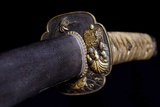 Close-Up View of 19th Century Samurai Sword
