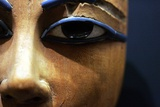 Detail of Eyes in Egyptian Wooden Coffin
