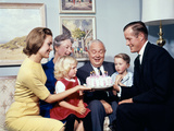1960s Three Generation Family with Birthday Cake