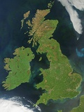 Satellite View of Great Britain and Ireland