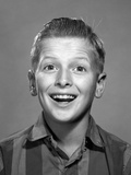 1960s Portrait Smiling Wide-Eyed Happy Surprised Teenage Boy