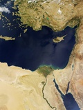 Satellite View of the Eastern Mediterranean Sea