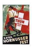"""Poster for 1933 """"Hornusser Fest"""" in Thun  Switzerland"""