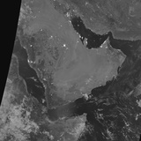 Nighttime Satellite View of the Arabian Peninsula