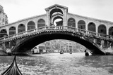 Gondola View of the Rialto Bridge in Venice  Italy  Ca 1912