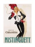 Vedette Columbia Mistinguett Poster