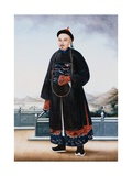 Portrait of an Elegantly Dressed Chinese Hong Merchant