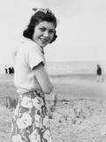 Happy Young Woman at the Beach  Ca 1938