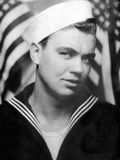 Photo Booth Portrait of Wwii Sailor  Ca 1943