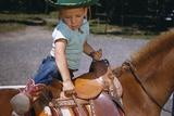 Boy Mounting Horse