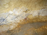 Cave Painting of Swimming Stags at Lascaux Papier Photo