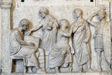 Roman Relief of Sacrifice Scene During a Census