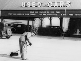 Used Car Lot Worker  Ca 1934
