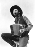1930s Cowboy Playing Accordion and Singing