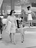 1960s-1970s Mother and Daughter Shopping in a Department Store