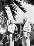1930s 2 Elderly Men Standing
