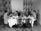 1950s Three Generation Family Dinner