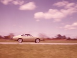 1960s Blurred Motion of Car on Road