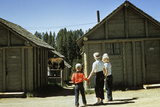1950s Mother and Children Visiting Yellowstone National Park Wyoming 1956