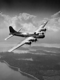 1940s US Army Aircraft World War II B-17 Bomber in Flight