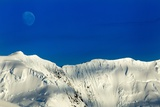 Moon and Mountain Peaks  Antarctica