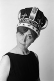 1970s Portrait Woman Wearing Queen's Crown