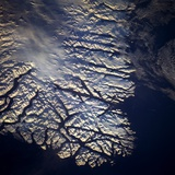 Coastline of Greenland from Space