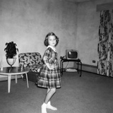 Young Girl Dances around the Living Room  Ca 1963