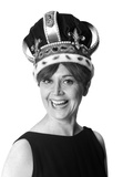 1970s Smiling Portrait Woman Wearing Queen's Crown