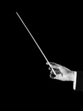 1950s Male Orchestra Conductor's Hand Holding Baton
