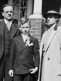 Young Boy with His Stern Looking Parents  Ca 1935