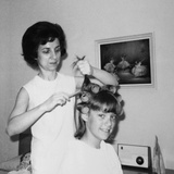 Mother Helps 16 Year Old Daughter Get Ready for Date  Ca 1970