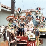 Mother and Daughters as Tourists in Tijuana  Mexico  Ca 1967