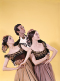 1970s Spanish Ballet Dancer Man Two Women Costumes Posed Together