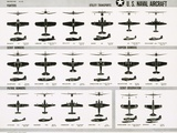 Poster of U.S. Naval Combat and Transport Aircraft Papier Photo