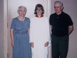 Grade School Graduate with Her Grandparents  Ca 1966