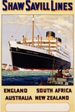 Poster for Shaw Savill Lines